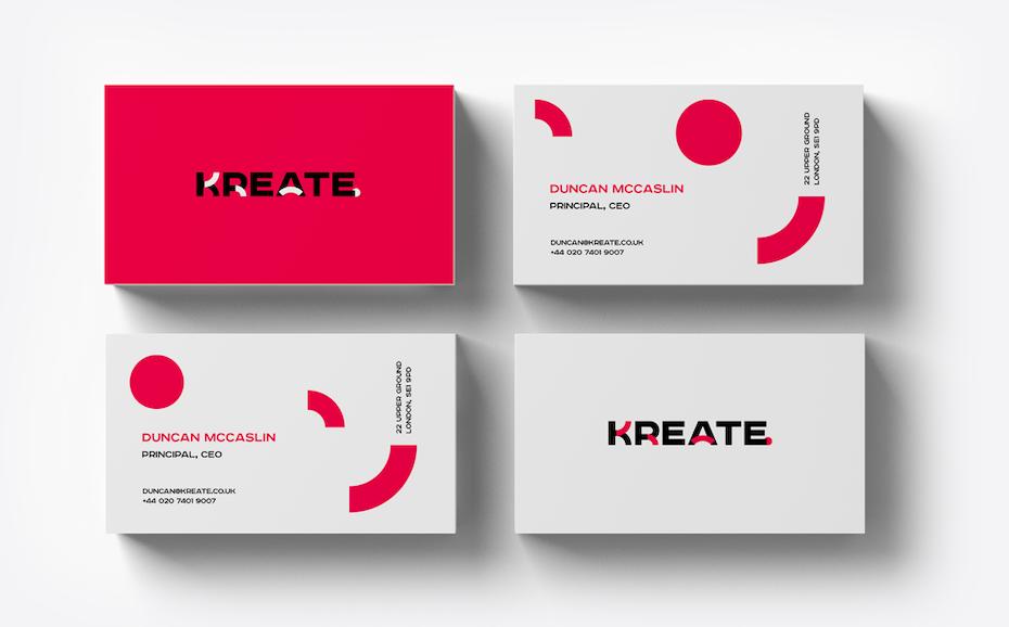 Le branding de Kreate est une des bonnes idées de branding présentées dans cet article