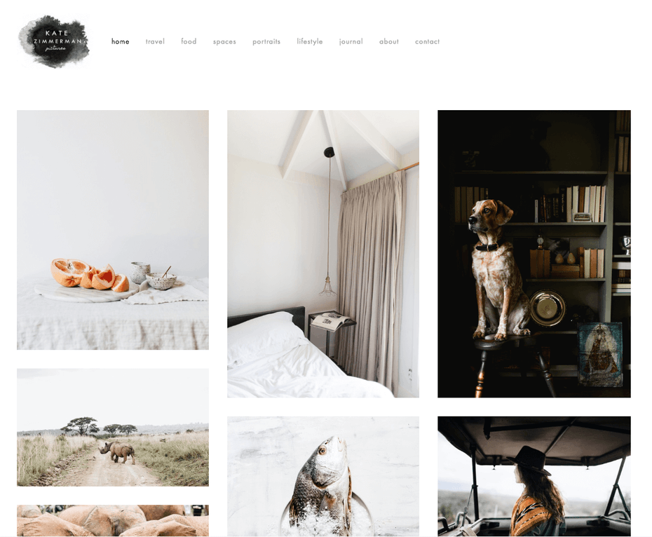 photography website built with Squarespace