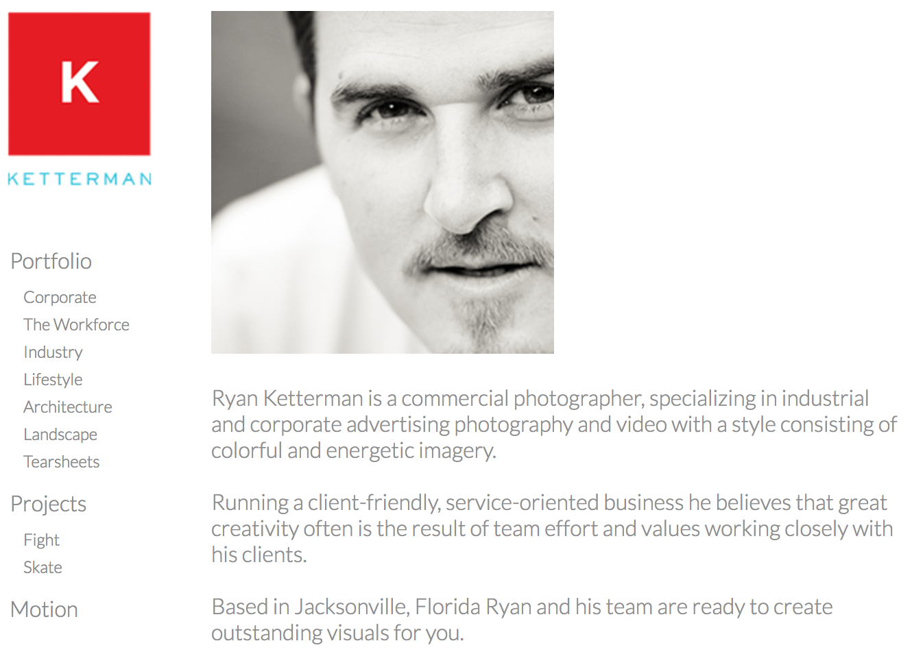 corporate photographer ryan ketterman about page