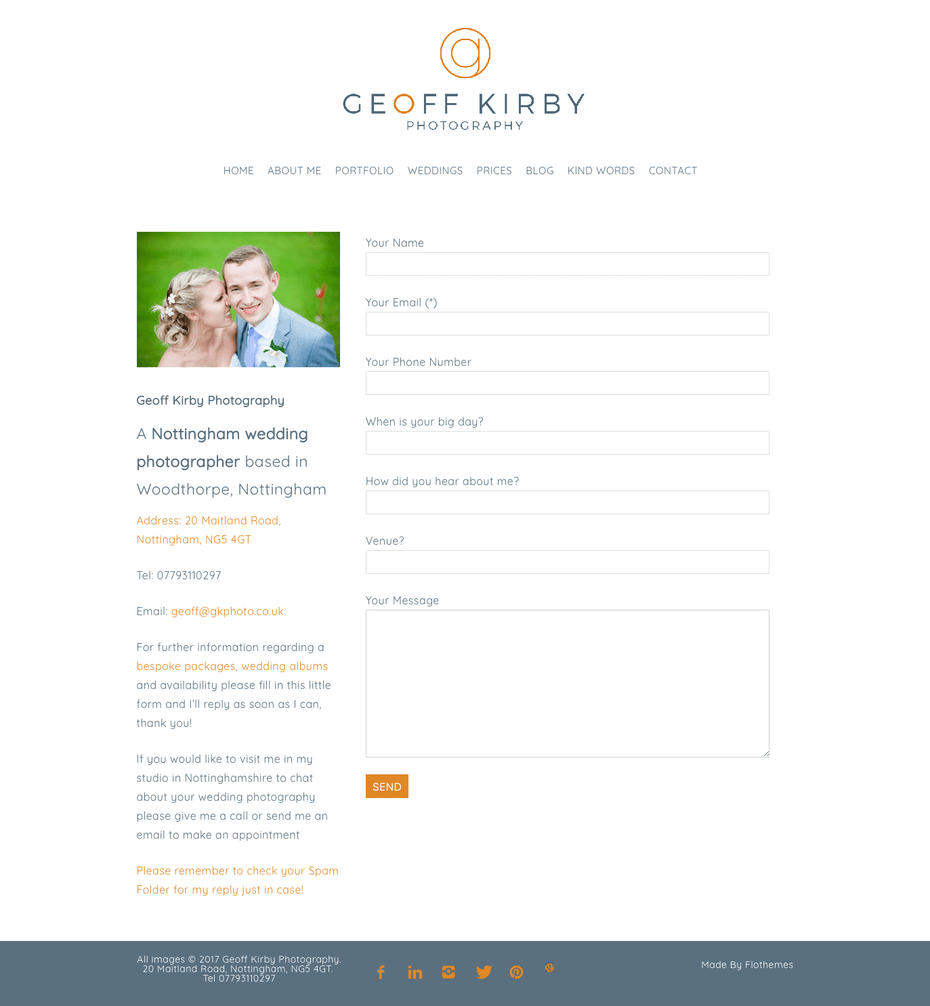 geoff kirby wedding photographer contact page