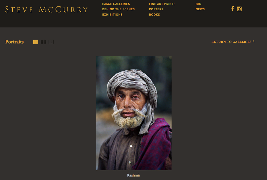 steve mccurry photographer website