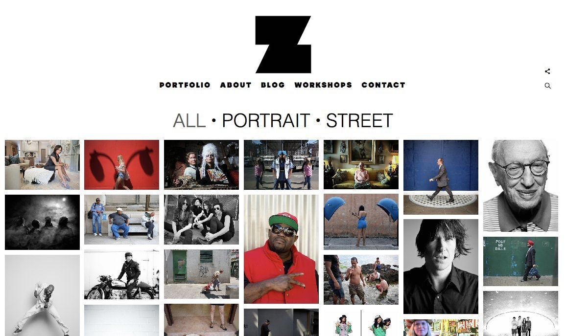 zack arias photographer website