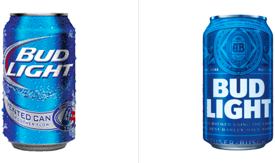 Bud Light before and after