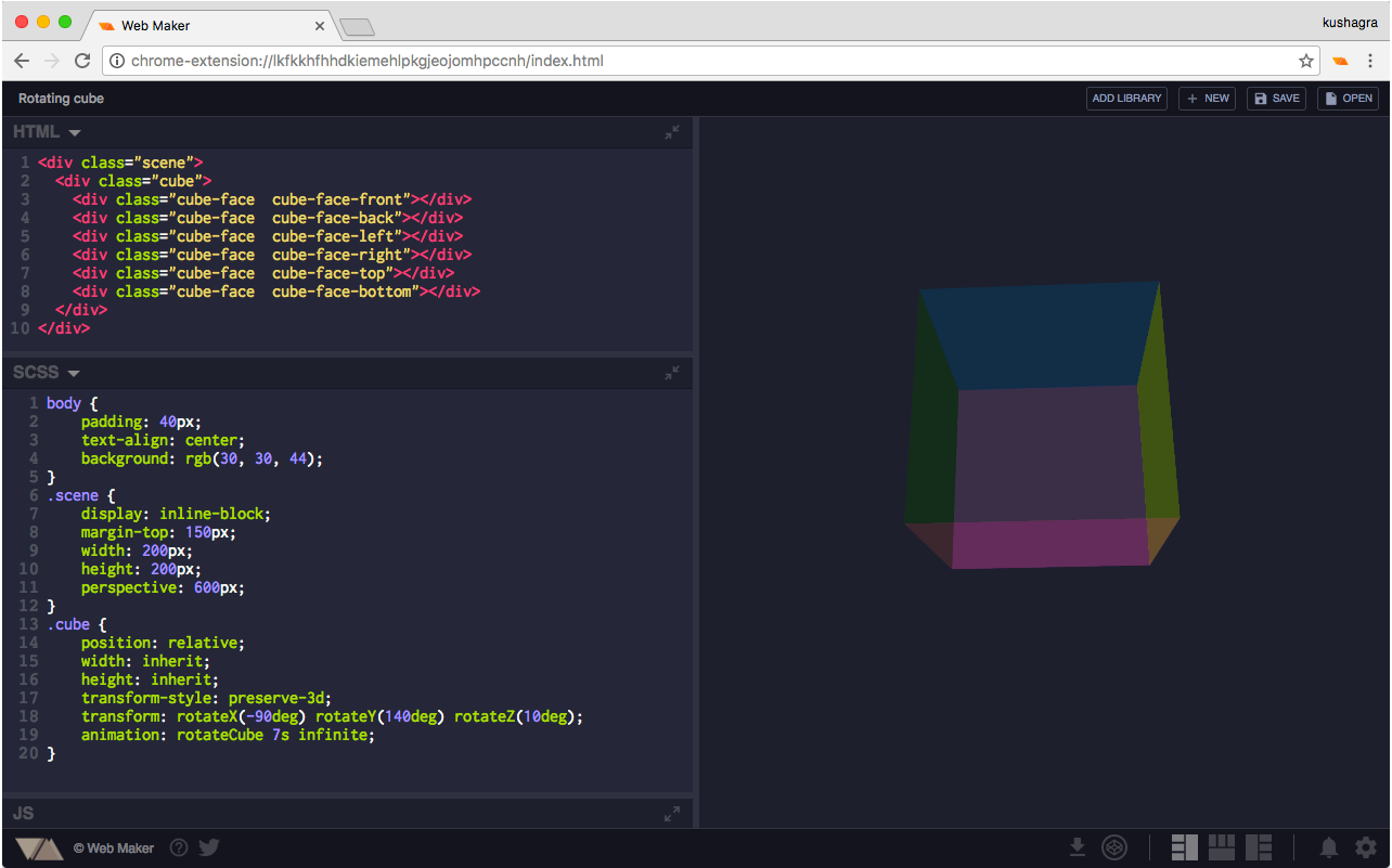 Web Maker screenshot