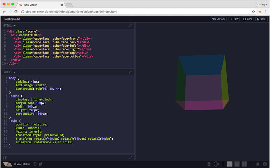 Web Maker screenshot