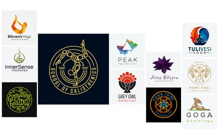 33 Yoga-Logos, die dir helfen, deine Mitte zu finden