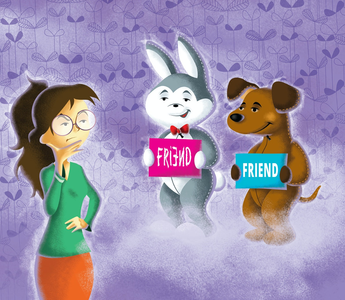 Illustration of friends for a social net website by WolfBell.