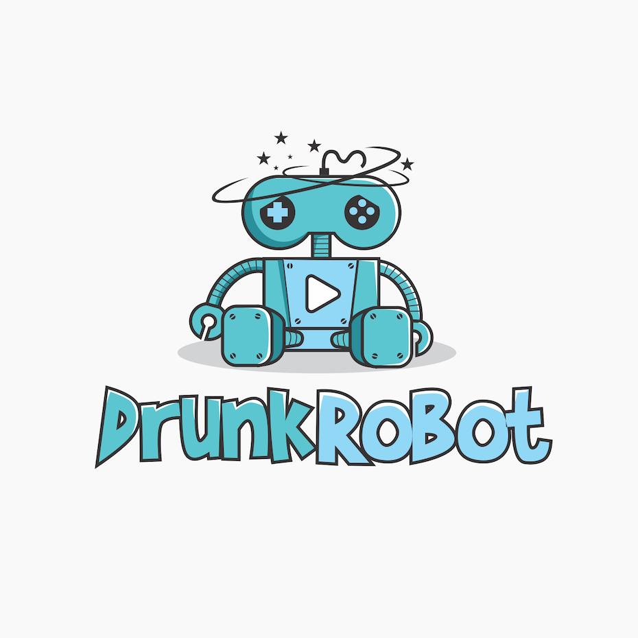 Drunk Robot Logo