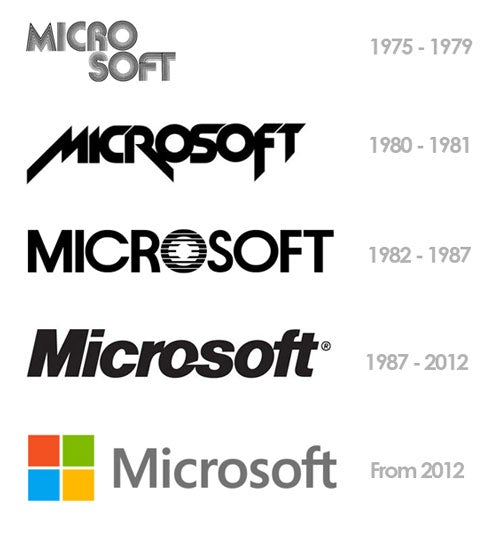 rebranding Microsofts logos