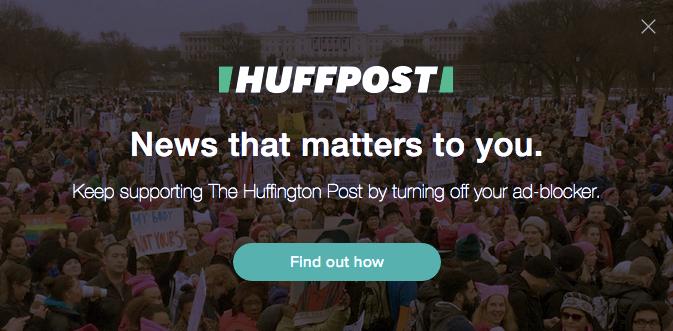 Screenshot from Huffington Post