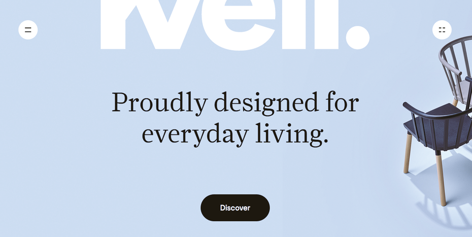 Screenshot of Kvell's landing page.