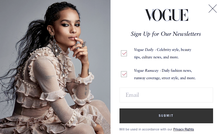 Screenshot from Vogue.