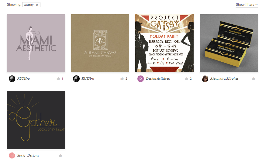 99designs discover screenshot