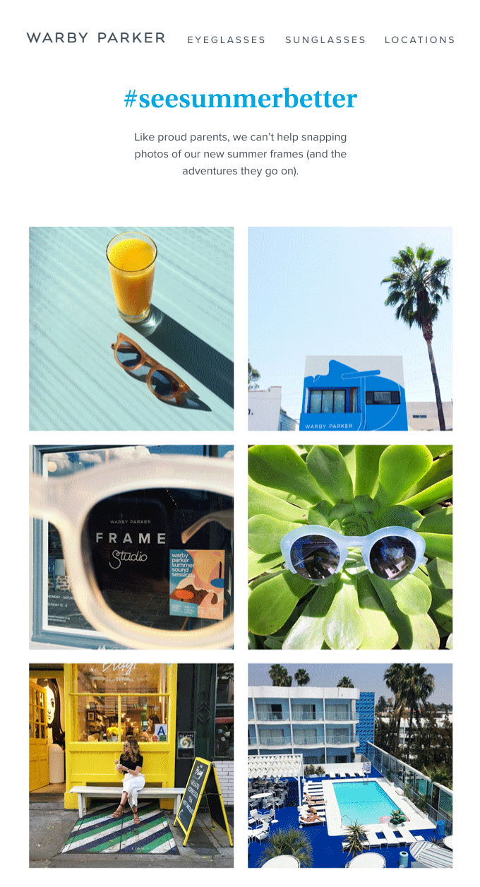 Warby Parker's #SeeSummerBetter campaign