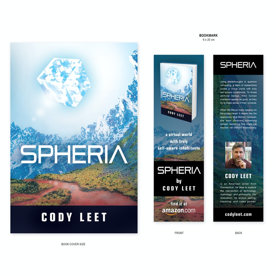 Bookmark for Spheria by Cody Leet