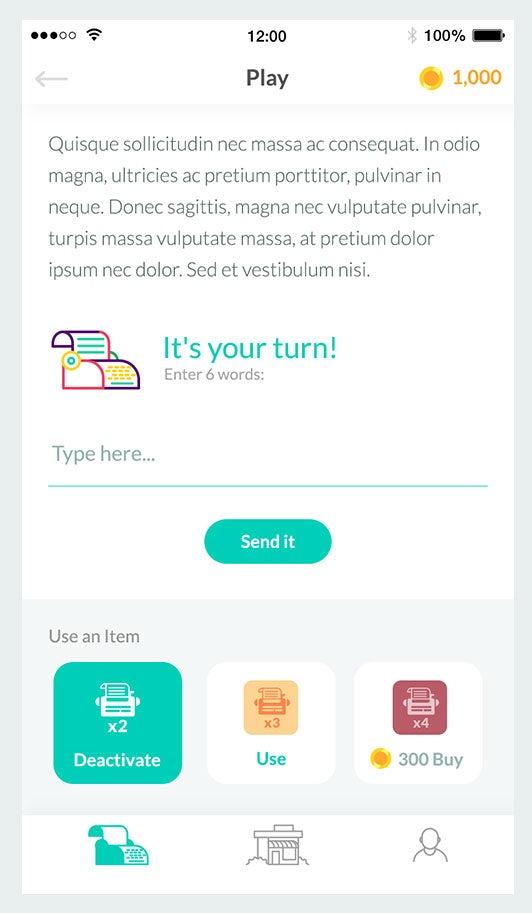 flat design mobile app