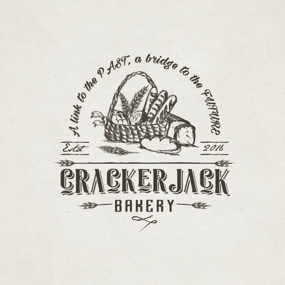 Bread-centric logo: Crackerjack Bakery