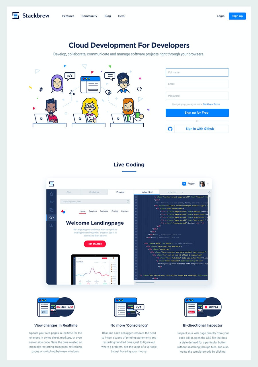 flat website design