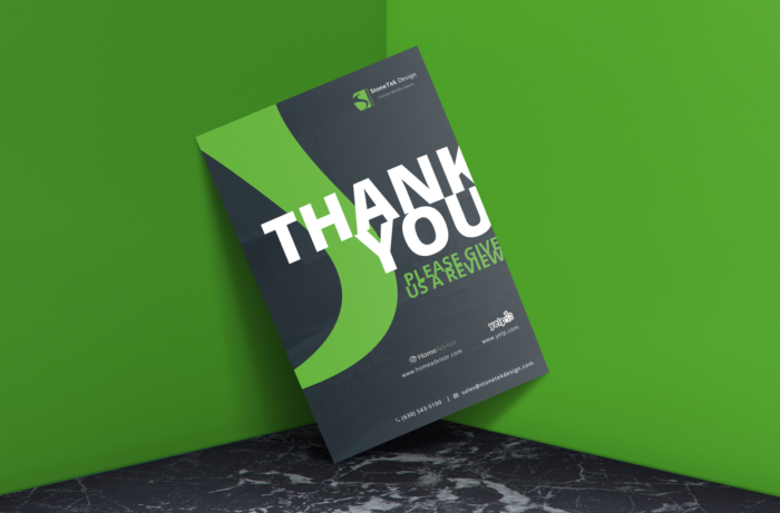 Use cards to thank your customers and ask for reviews