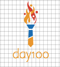 day100 logo vom logo maker DesignMantic