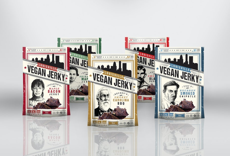 Louisville Vegan Jerky Packaging