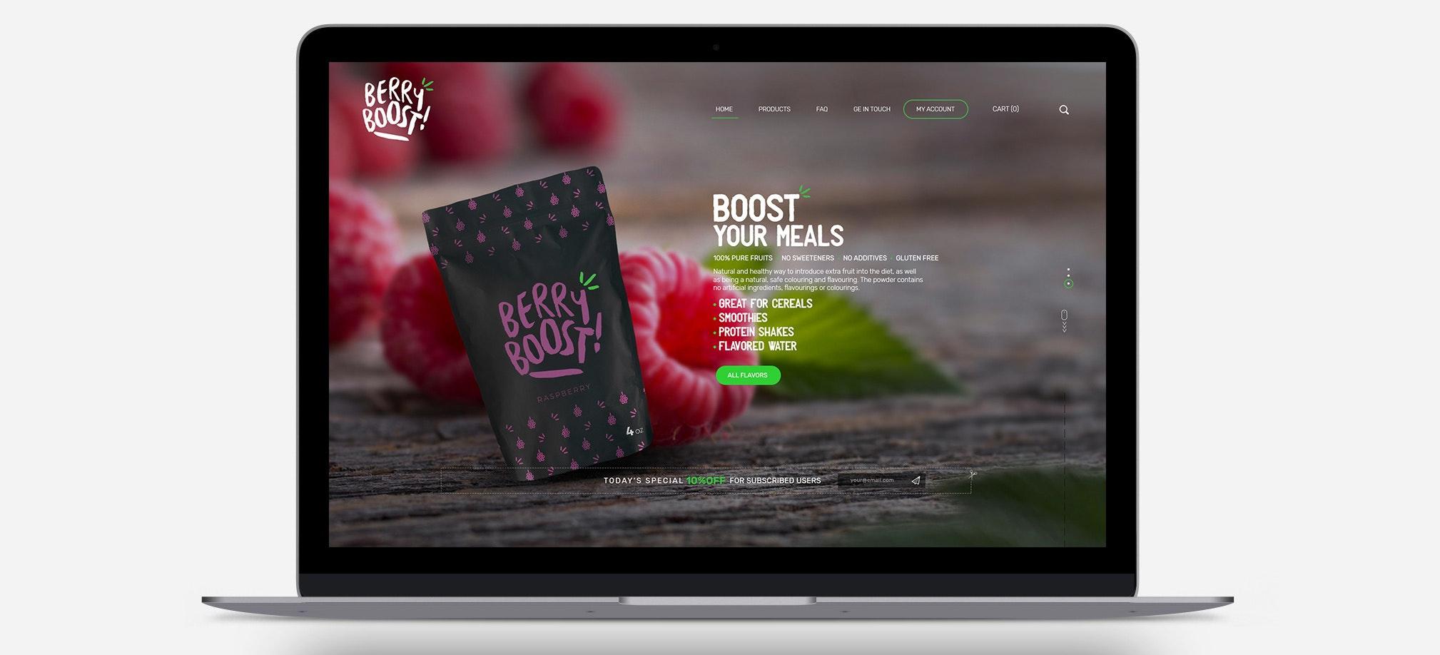 Ansprechendes und übersichtliches Website-Design