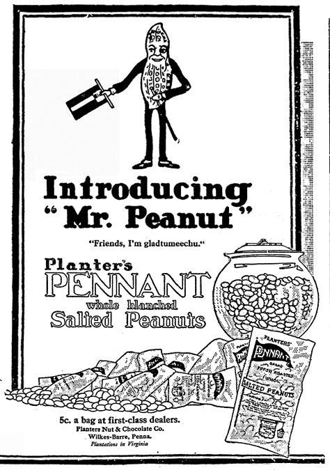 Mr. Peanut mascot