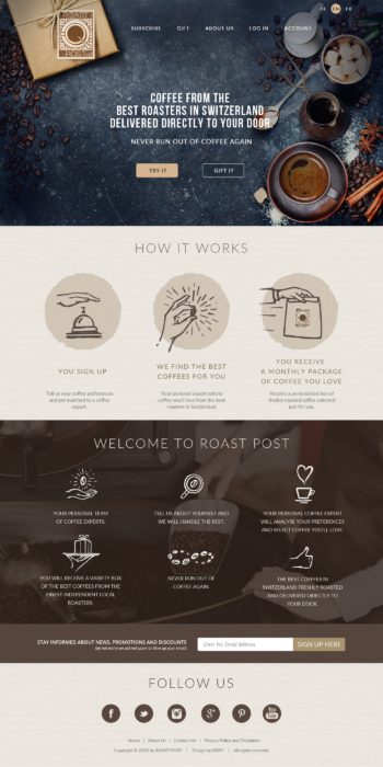 Ansprechendes und informatives Website-Design