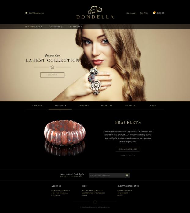 Elegantes Webseiten-Design