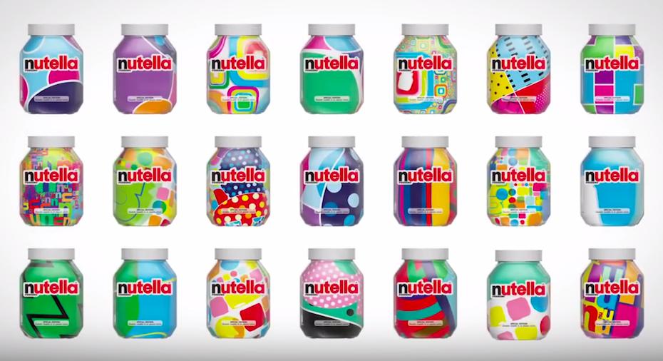 Screenshot of AI created Nutella labels