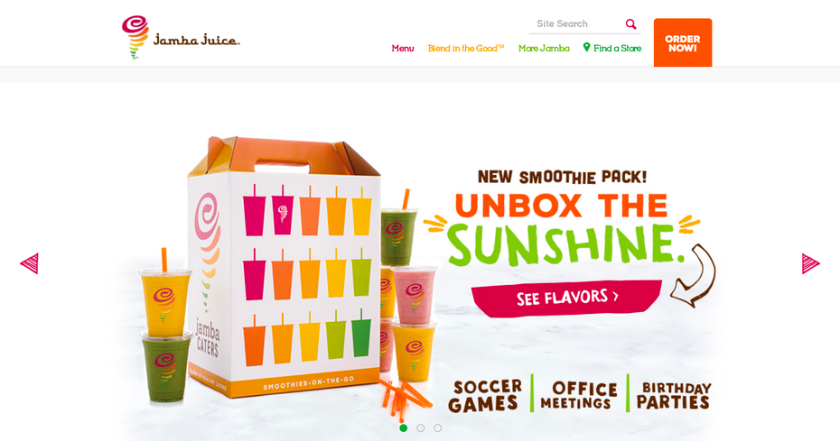Jamba Juice website