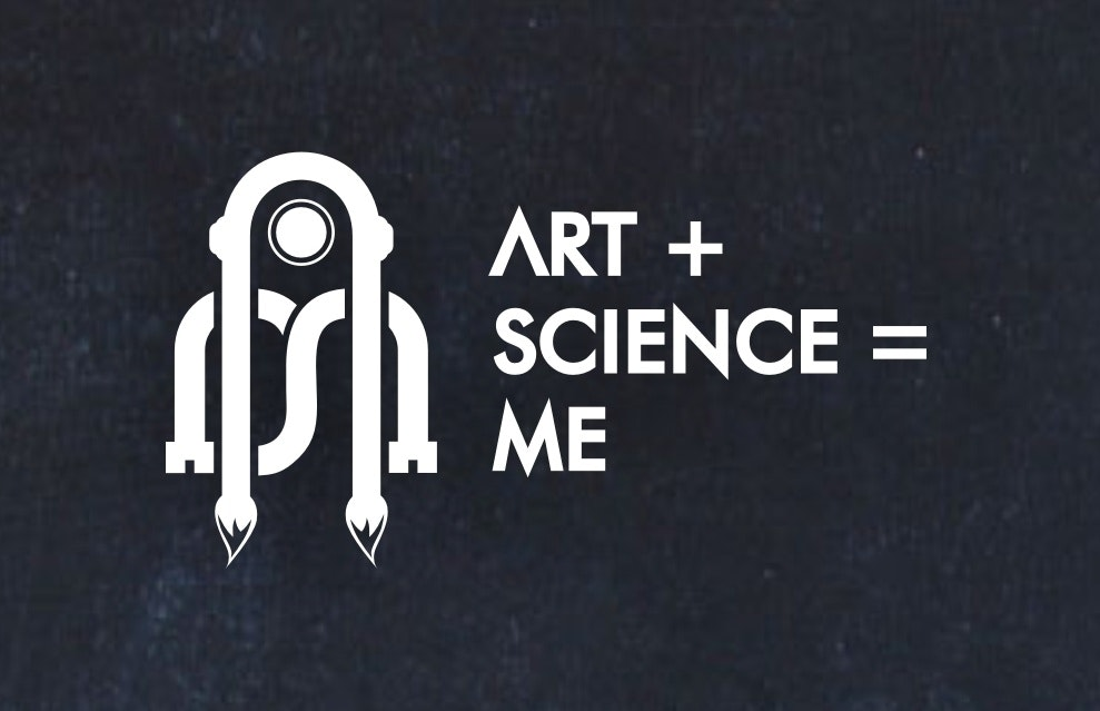 Logo design combining science and art