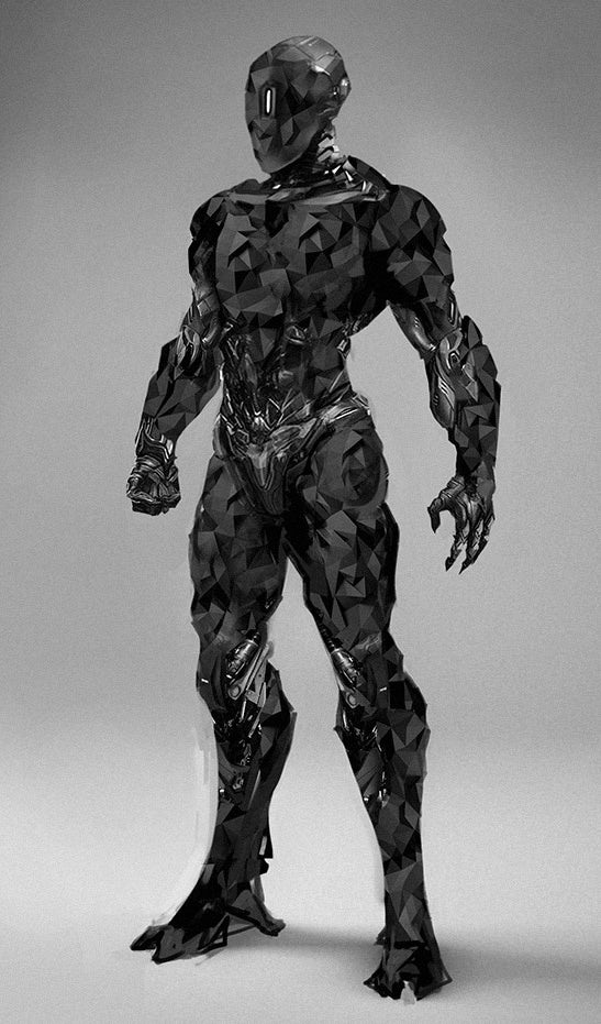 3D modeled android villain for a science fiction film