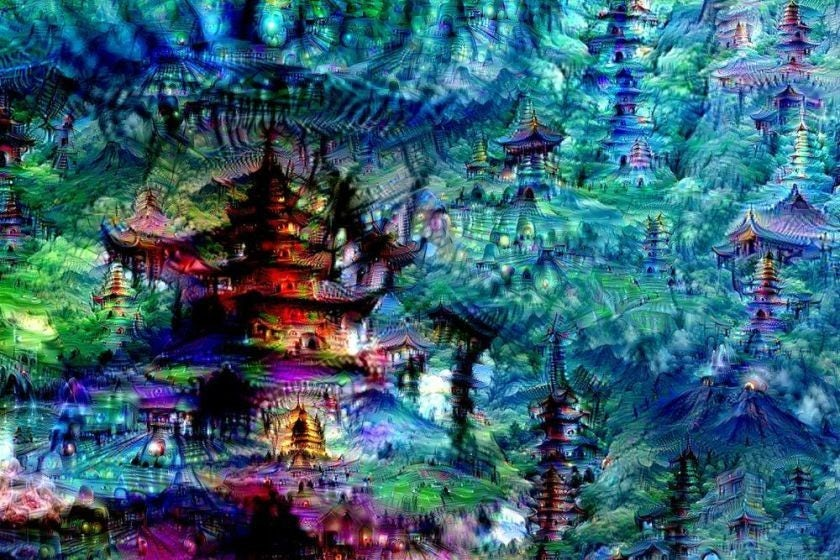 Art created by an Google Deep Dream
