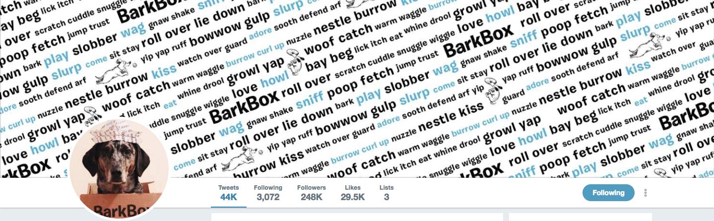 BarkBox Twitter image