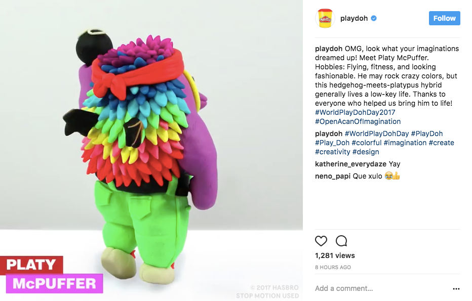 PlayDoh Instagram image