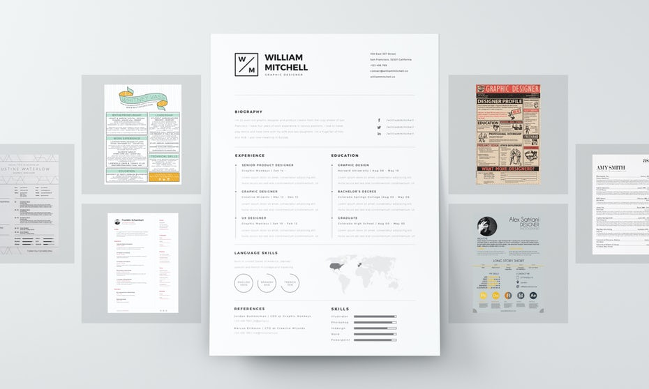 the way you present the information is just as important as the info you include because hiring managers are going to notice your resume design before they - Resume Graphic Design