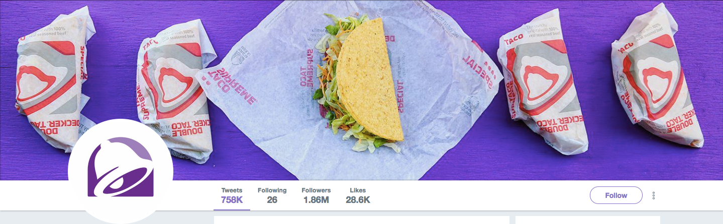Taco Bell Twitter image