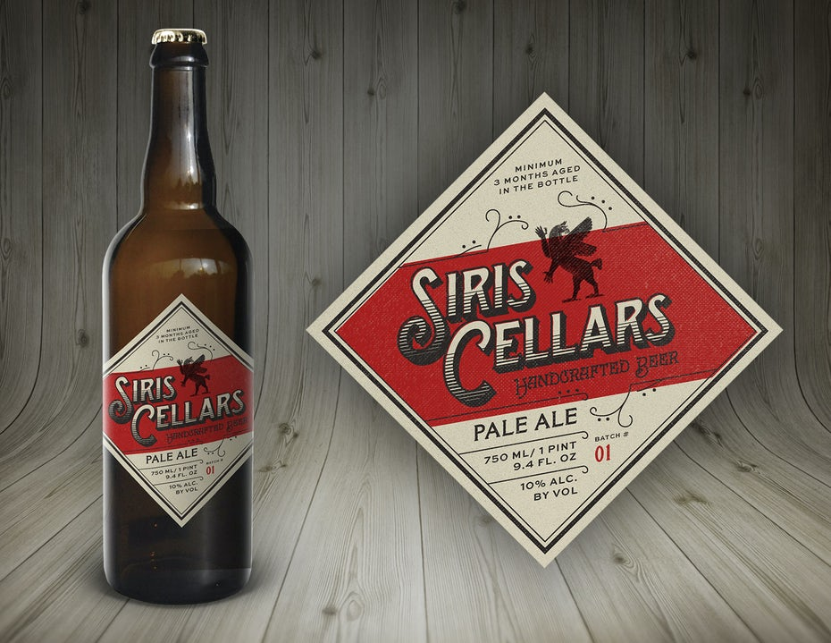 Beer label design for Siris Cellars by designbybruno