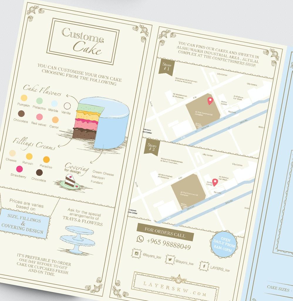 custom cake brochure