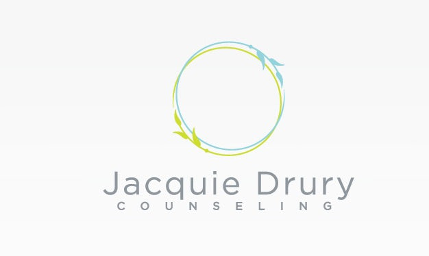 Logo with decorative circle