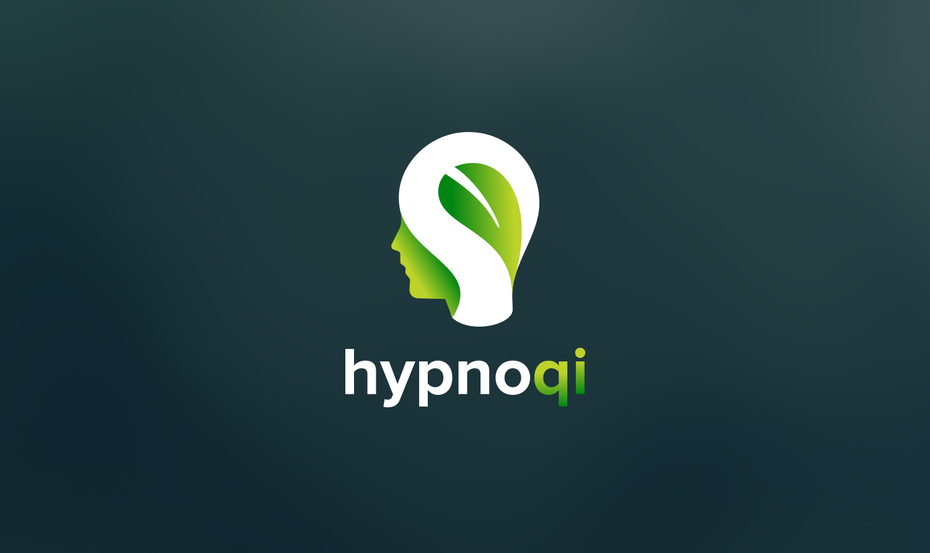 Logo depicting leaf inside human head