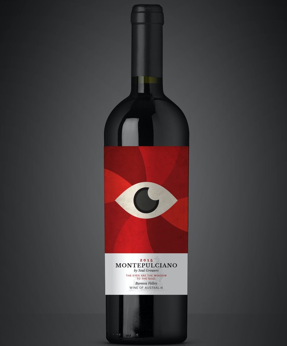 Contemporary graphical wine label