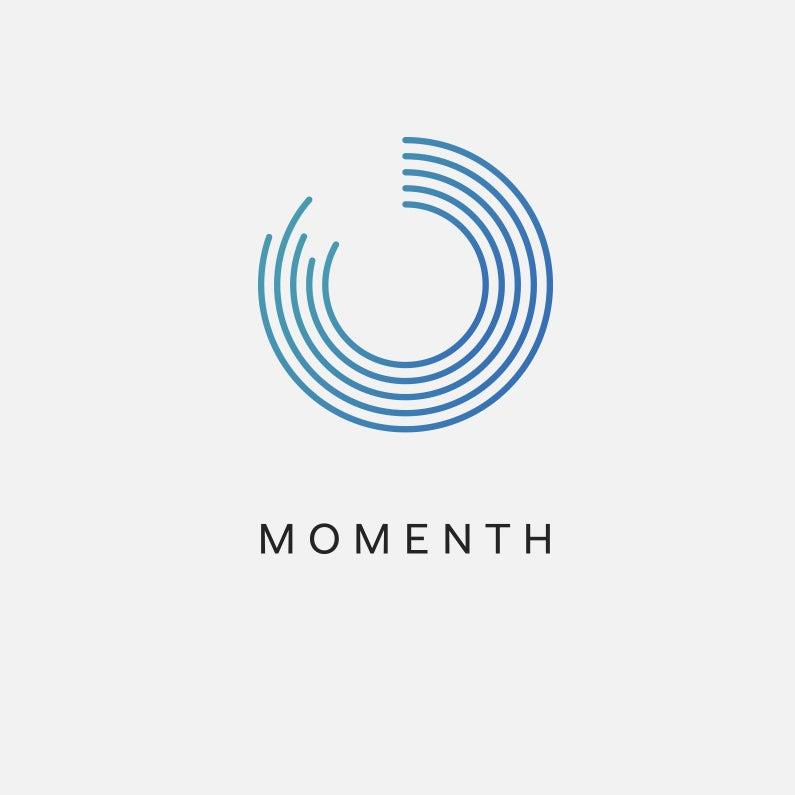 Logo with partial circle