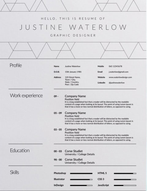 7 Resume Design Principles That Will Get You Hired