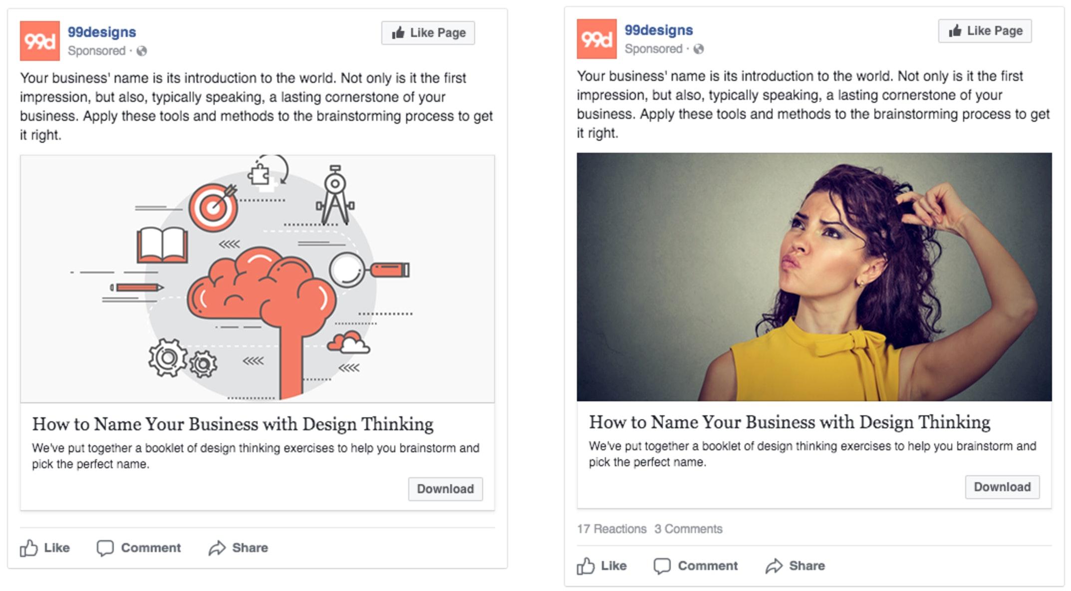 Facebook A/B test