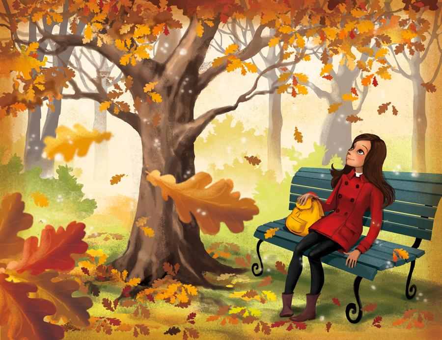 fall illustration by Marrieta