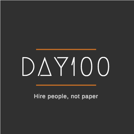 day100 logo von logo maker Canva