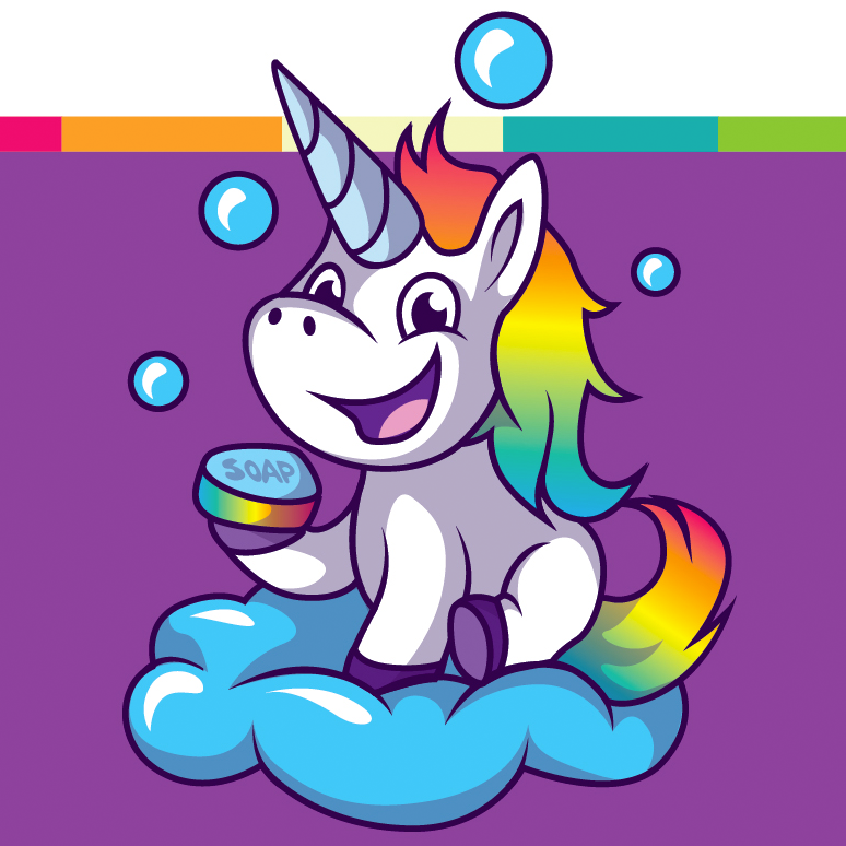 cute unicorn bath