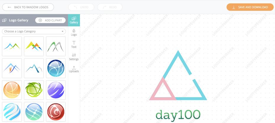 day100 logo von logo maker logotypemaker